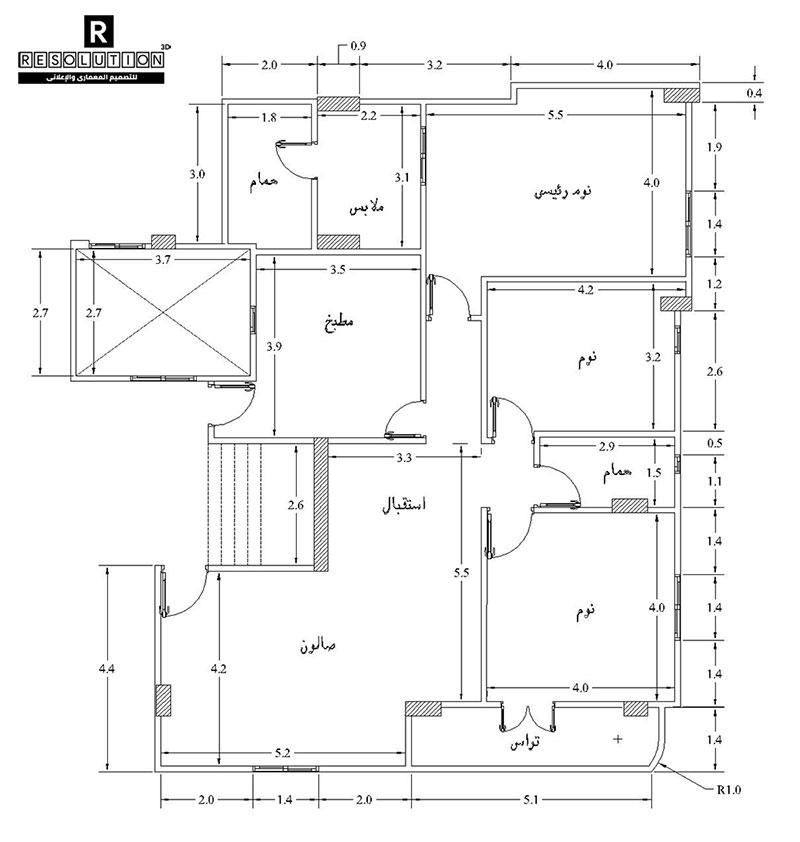 رسم مخطط منزل 2D Floor Plan