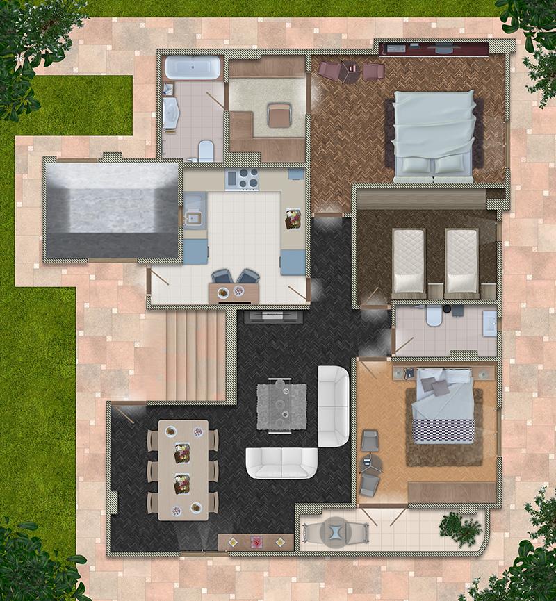 رسم مخطط منزل