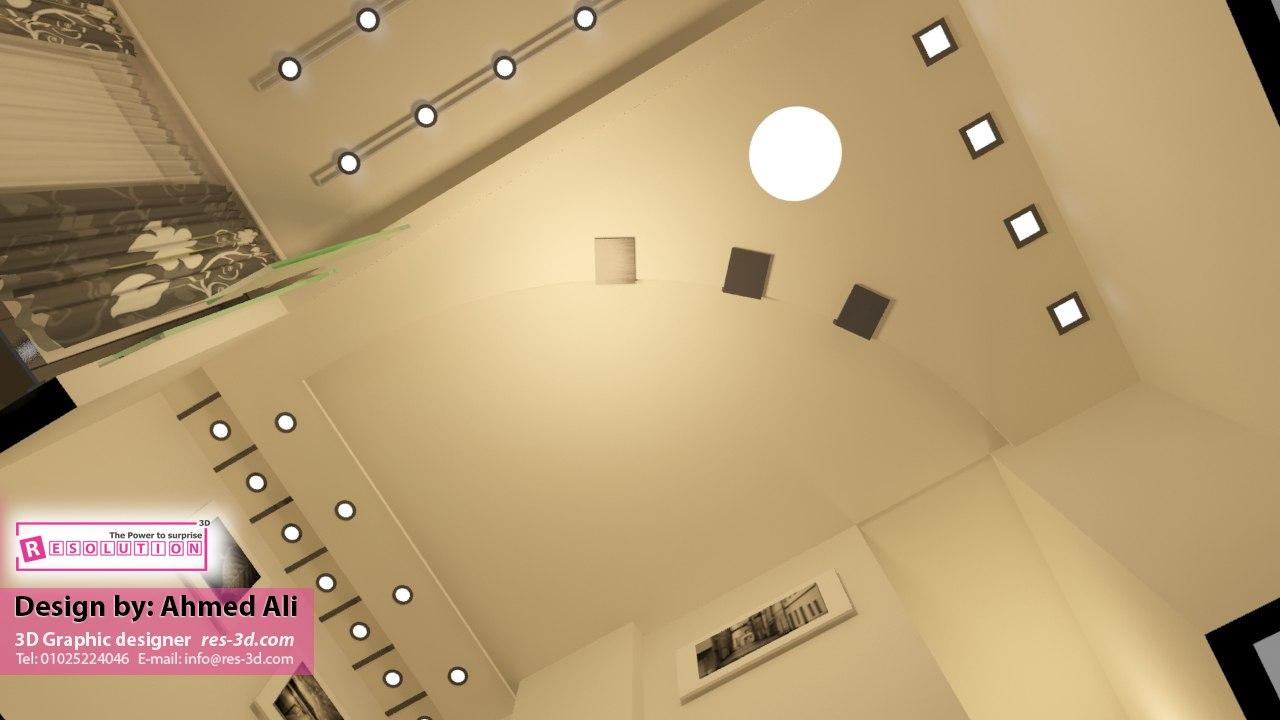 شكل رسمة سقف الأنترية