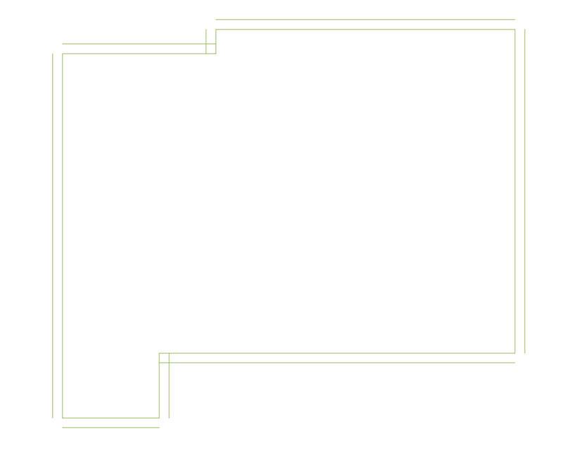 شكل غرفة النوم بعد استخدام امر offset - AutoCAD