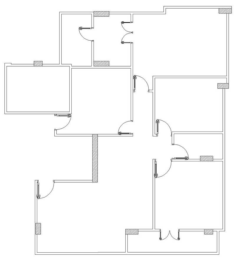 رسم مخطط منزل - مرحلة الأبواب