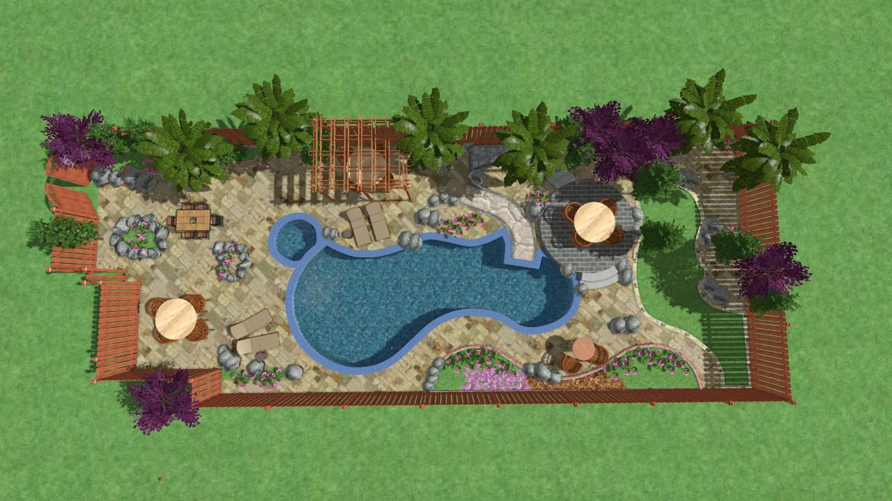 تعليم تصميم (الحدائق) الاندسكيب - التصميم النهائي الذى سنصل إليه بنهاية من ضمن دورة تصميم (الحدائق) الاندسكيب