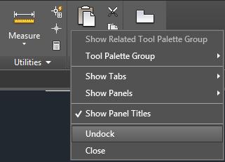 تعليم الاوتوكاد - قائمة Show Related Tool Palette Group وخيار Unlock
