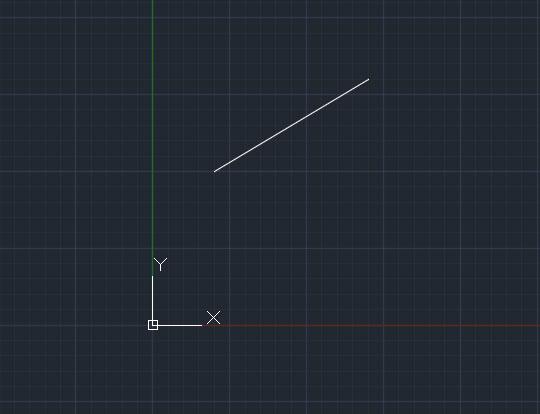 تعليم الاوتوكاد - شكل يوضح ناتج رسم الخط من خلال الإحداثيات.