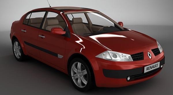 موديل سيارة MeganeII 3d