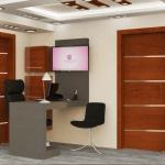 صورة لتصميم المكتب من الداخل