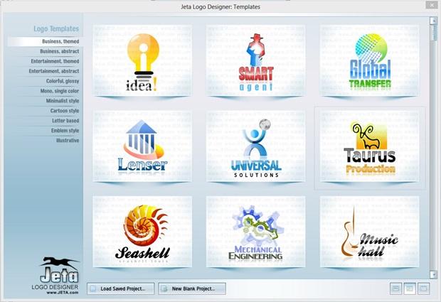 Jeta Logo Designer - برنامج تصميم شعارات