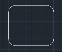 تعليم الاوتوكاد - شكل المربع منحنى الحواف.