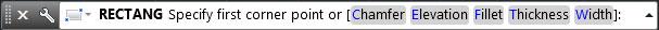 تعليم الاوتوكاد - خيارات نوع المربع.