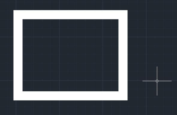 تعليم الاوتوكاد - شكل المربع ذات الحواف العريضة بسمك 0.5
