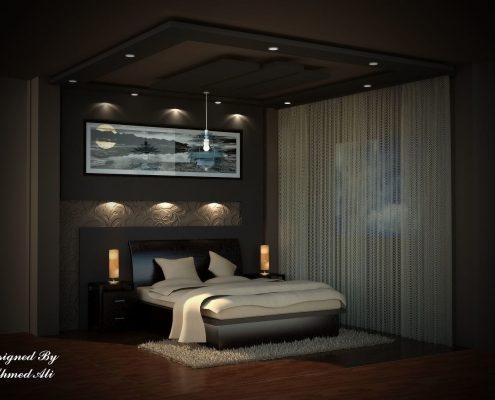 تصميم 3D لغرفة نوم
