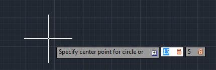 تعليم الاوتوكاد - تحديد إحداثيات مركز الدائرة في ال X,Y