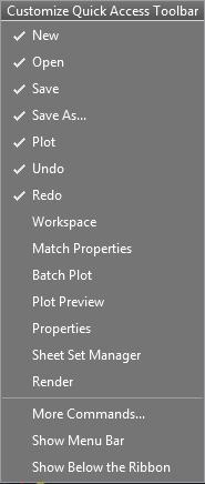 تعليم الاوتوكاد - 7-Customize-Quick-Access-toolbar