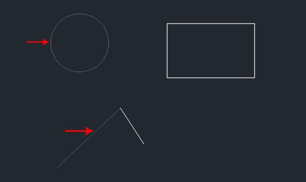 تعليم الاوتوكاد - شكل يوضح اختيار المجسمات المراد التعديل عليهم.