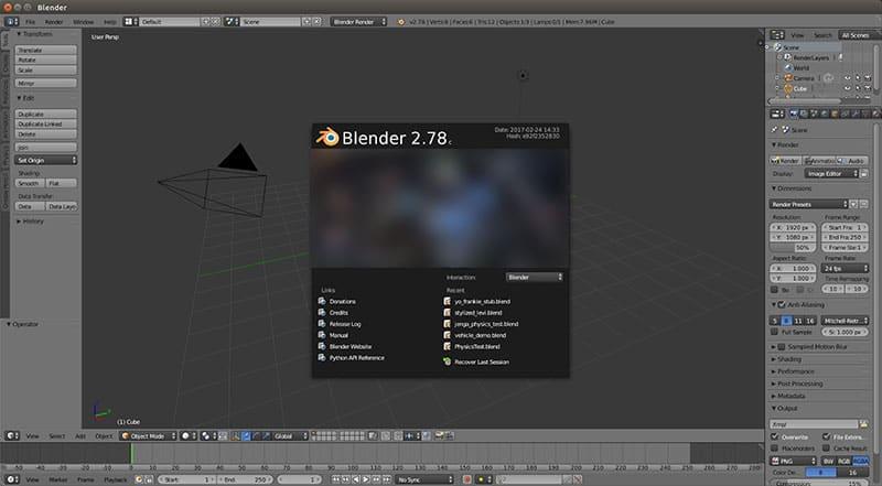 Blender - أفضل برامج الجرافيك المجانية لعام 2017