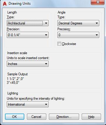 تعليم الأوتوكاد - شكل يوضح نافذة Drawing Units.