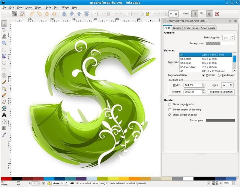 Inkscape - أفضل برامج الجرافيك المجانية لعام 2017
