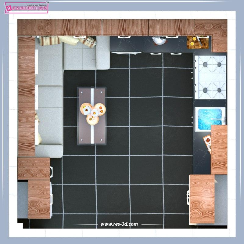 Kitchen Design-تصميم مطبخ 4