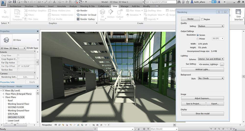برامج التصميم الهندسية - revit-interface