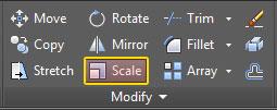 2. اختيار الأمر Scale