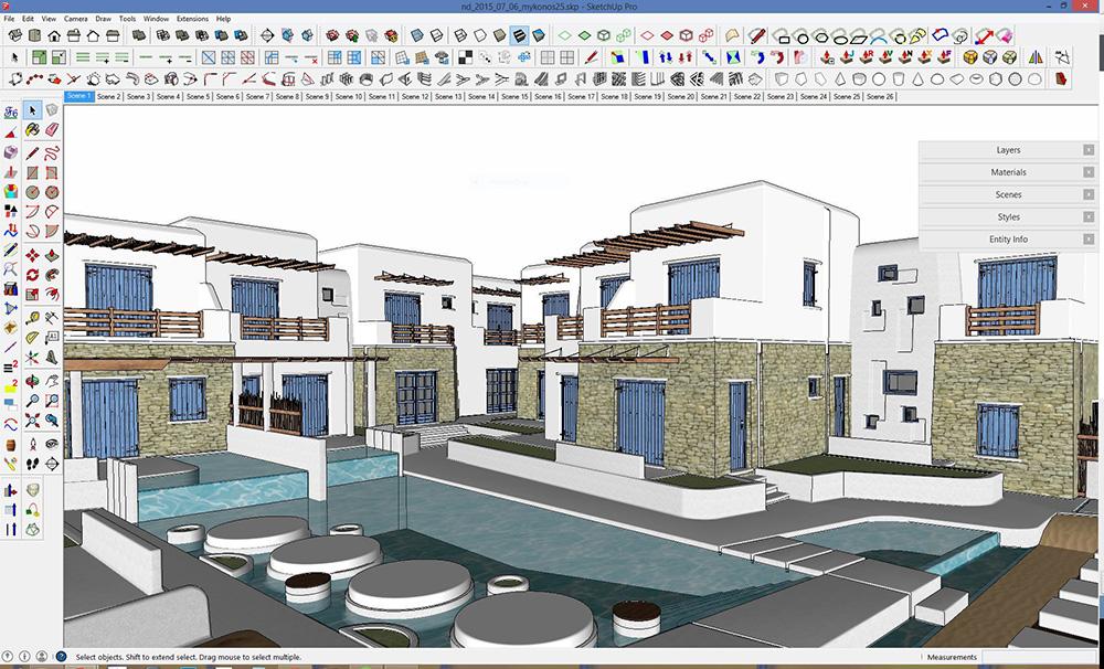 برامج التصميم الهندسية - sketchup-interface