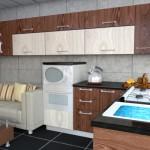 مطبخ 3D بجلسة مريحة